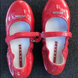Prada ballet shoes for girls